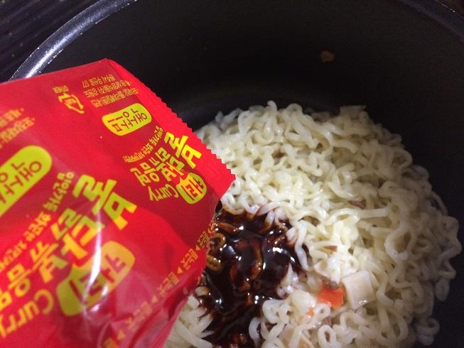 カレーブルダック炒め麺 作り方